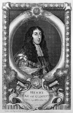 view Portrait of Henry Duke of Gloucester, son of Charles I, after anonymous dated 1660