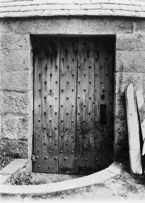 view Door closed on Vault in graveyard at Udny, Aberdeenshire.