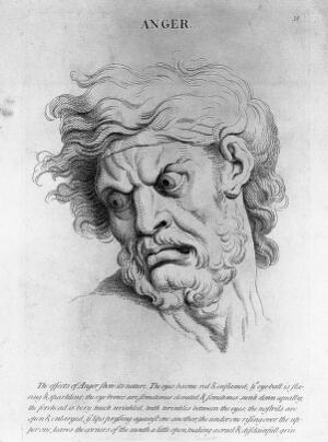 view Lithographs: studies of human faces with emotion.