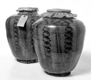 view Two ceramic vessels, possibly oriental