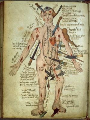 view Wound man, Pseudo-Galen, Anathomia; WMS 290
