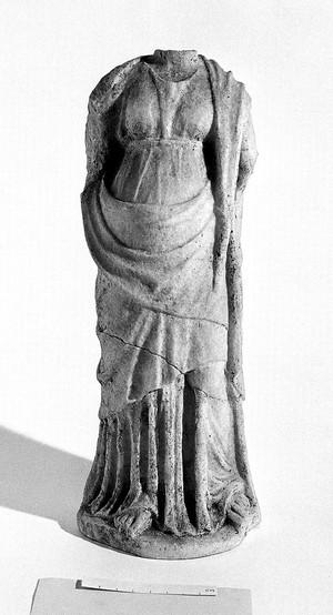 view Graeco Roman headless statuette of goddess