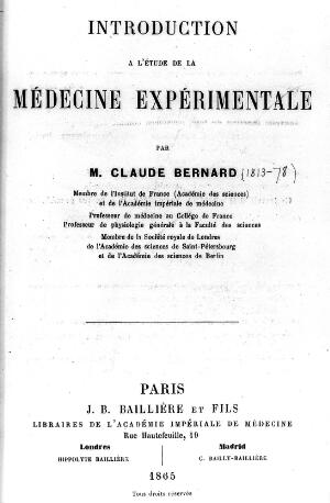 "view Claude Bernard: ""Introduction a l'etude..."""