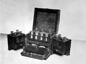 view Photograph: Medicine Chest containing bottles