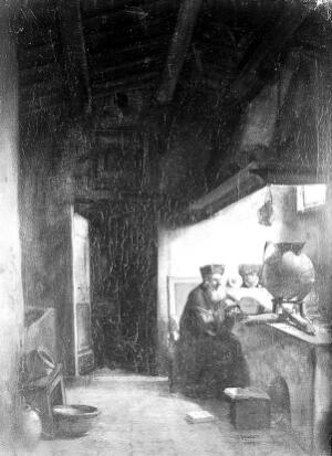 view An alchemist, bears signature F.-M. Granet