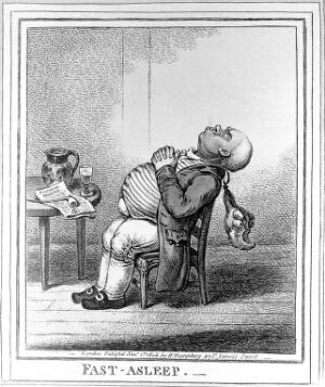 view James Gillray, 'Fast-asleep', forms a pair with 'Wide-awake', q.v.