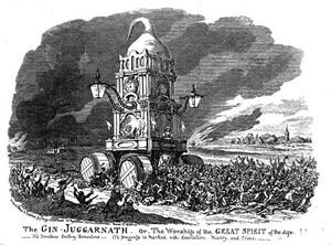 view The Gin-Juggernath, by G. Cruikshank