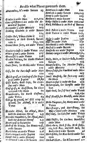 view Index Gentian-Herb William, 17th century