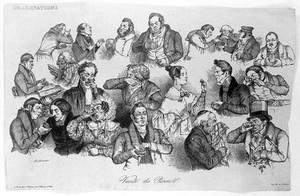 view 'Variete des priseurs' by Neuhaus after Grandville