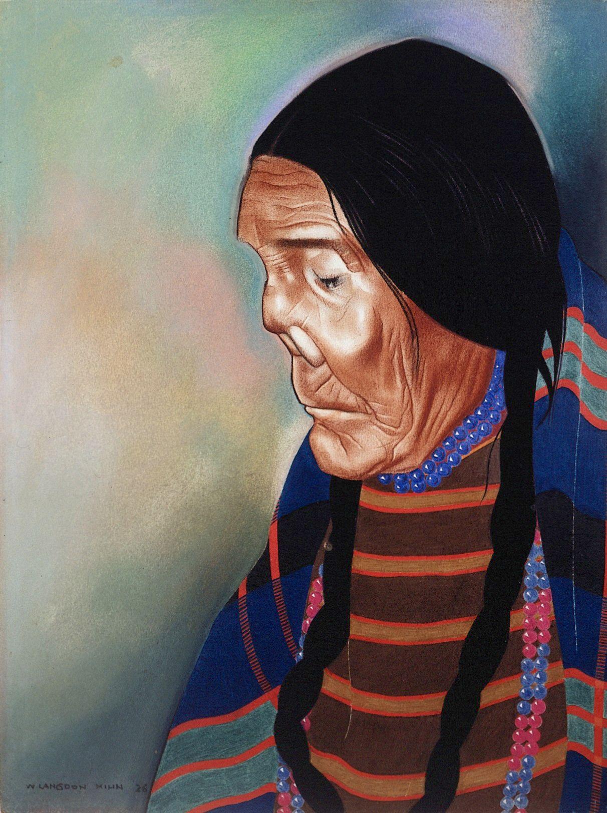 Portrait of Rosie Ground or Cut-nose, of the Blackfeet tribe