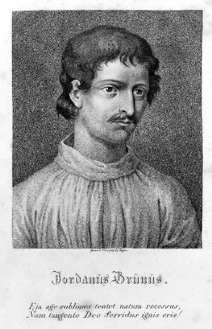 """view Portrait of Giordano Bruno in """"Opere"""""""