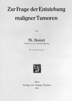 "view Title-Page of T. Boveri's ""Zur Frage der Entstehung maligner Tumoren"""