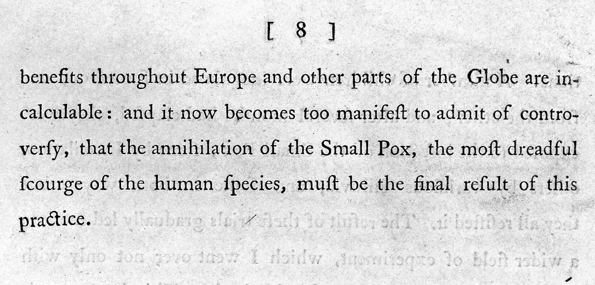 Prophesy of eradication of smallpox  | Wellcome Collection