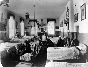 view Ward for women, a mental hosptial in Britain.