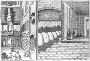 """view Kircher, A., """"Musurgia universalis"""", 1650, speaking-trumpet"""