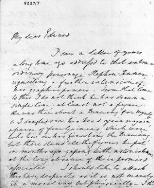 view Autograph letter from Edward Jenner to his nephew Edward Davies