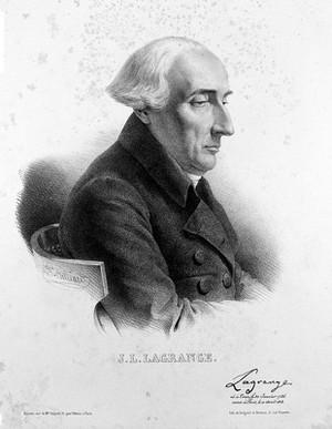 view Joseph Louis Lagrange. Lithograph by Z. Belliard.