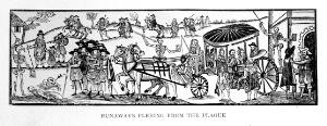 """view Wilson """"The plague..."""": people fleeing from plague"""
