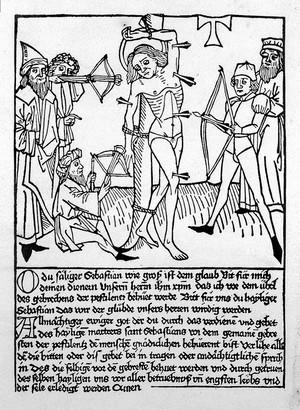 view Heitz & Scheiber, The martyrdom of St Sebastian