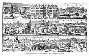 view Nine images of the plague in London, 17th century