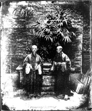 view Two Buddhist priests, Canton, China