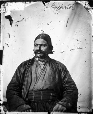 view A seated Cypriot man, with a large moustache