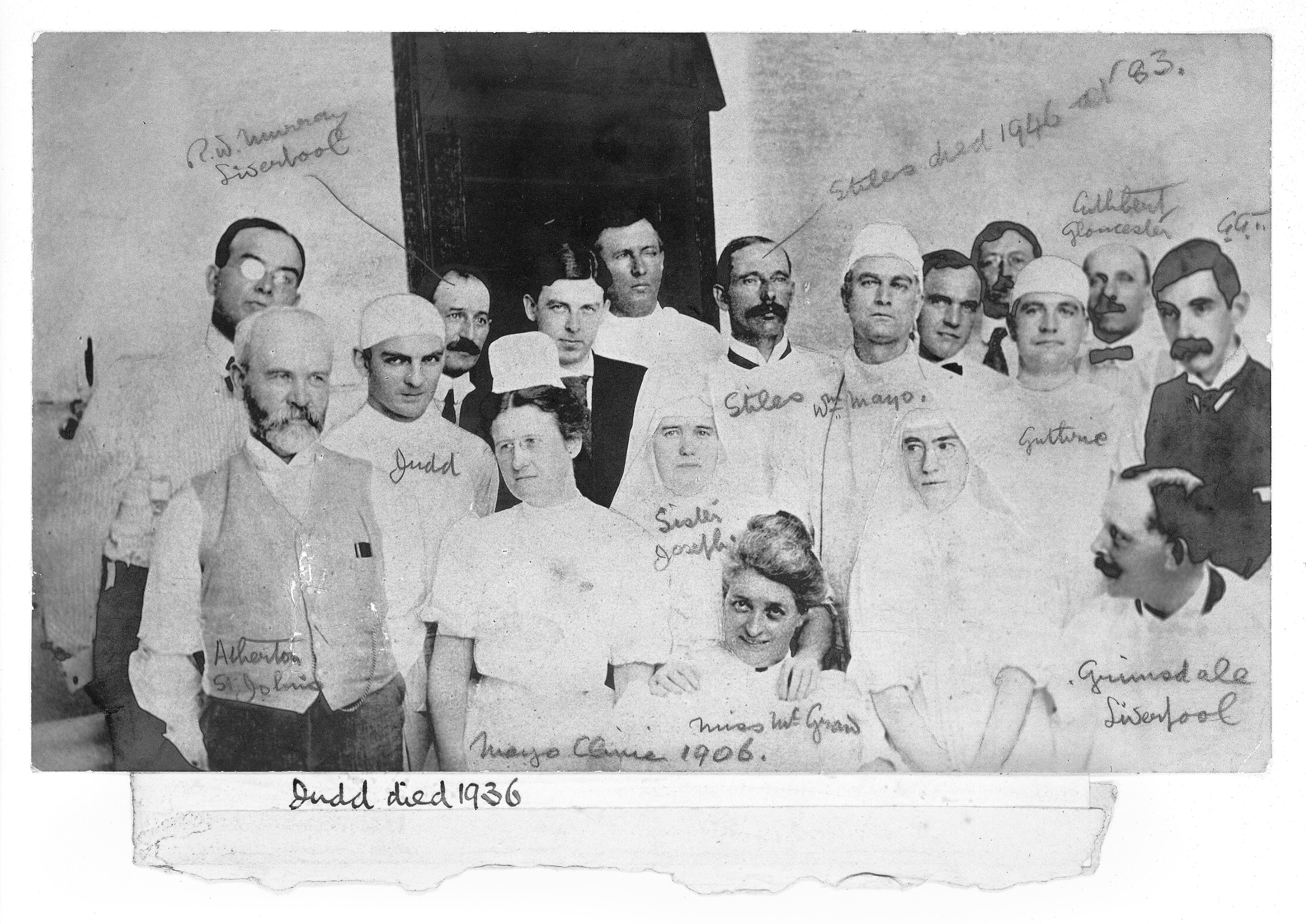 Group Portrait at Mayo Clinic  | Wellcome Collection