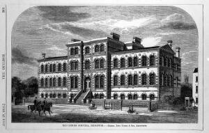 "view Engraving: ""Cancer Hospital, Brompton"", after B. Sly"