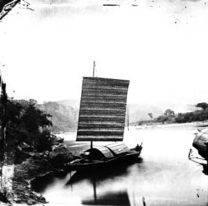 view Boat on the River Min, Fukien province, China.