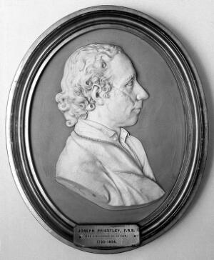 view Plaque of Priestley by John Flaxman.