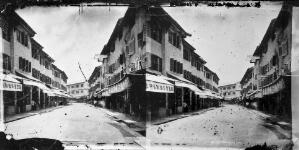 view Street scene, Hong Kong. Photograph, 1981, from a negative by John Thomson, 1868/1871.
