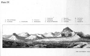 "view Scrope ""The geology..."", 1858: southern chain"