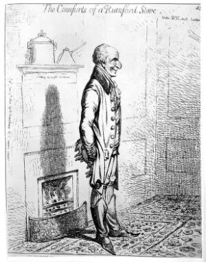 view J. Gillray, 'The comforts of a Rumford Stove'