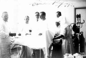 view Einar Key (fourth from left), a Swedish surgeon, in an