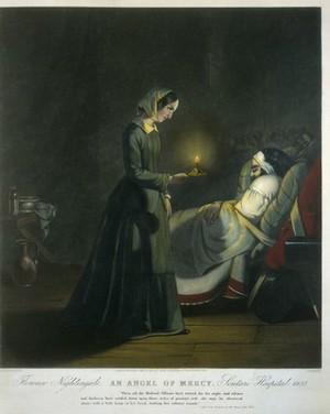 view Coloured mezzotint: Florence Nightingale,