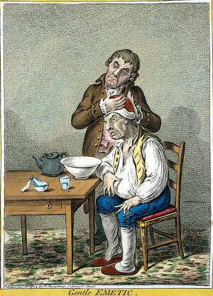 view James Gillray, 'Gentle Emetic'
