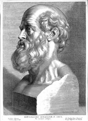 view Engraving: bust of Hippocrates; by Paul