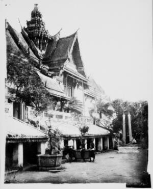 view Siam [Thailand]. Photograph, 1981, from a negative by John Thomson, 1866.
