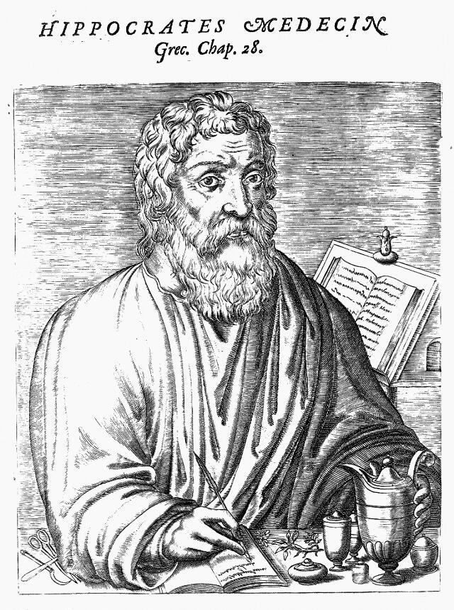 Engraving: imaginary portrait of
