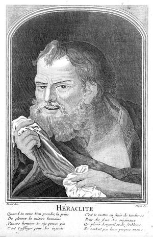 view Engraving: portrait bust of Heraclitus,