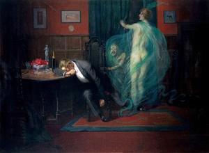 view Syphilis. Gouache by Richard Tennant Cooper, 1912.