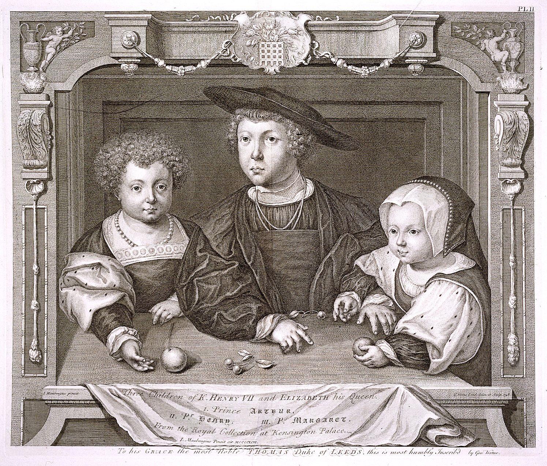 Three Children of Henry VII and Elizabeth of York  Princes Arthur