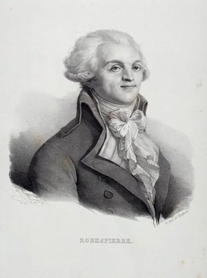 view Maximilien-Marie-Isidore de Robespierre. Lithograph by H. Grévedon, 1824.