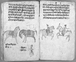 view Hindi Manuscript 191, fols 73 verso 74 recto
