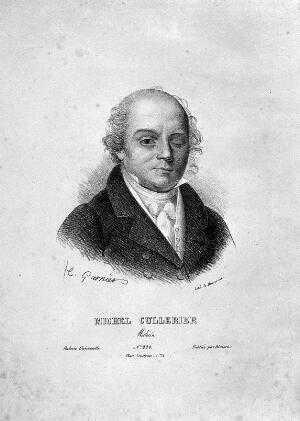 view Michel Cullerier. Lithograph by Ducarme after H. Garnier.