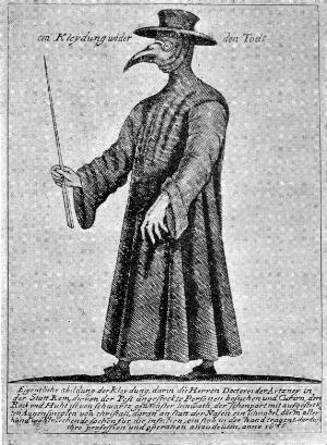 view Plague doctor: ein Kleydung under den Todt.