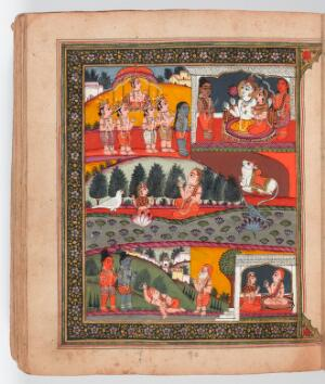 view The mahatmya of the tenth adhyaya. The servants of Shiva find a dead Brahman in the city of Kasi on the auspicious day of Ekadasi. Shiva explains that by reciting the tenth aghyaya of the Bhagvadgita, the Brahman had once saved a swan and an apsara (fairy) who had been turned into a lotus. Shiva's attendants take the Brahman to Shiva's heaven