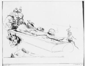 view Caricature of a dissection, Samuel Ireland, 1780-90