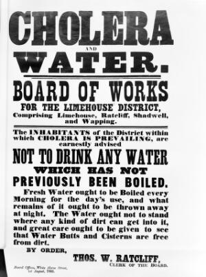 view Broadsheet: Cholera and Water, 1866