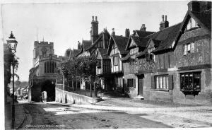 view Leicester's Hospital, Warwick. Photograph by F. Frith.